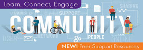 Learn, Connect, Engage.  New Peer Support Resources